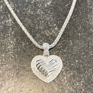 Brighton Inspired Silver Heart Necklace
